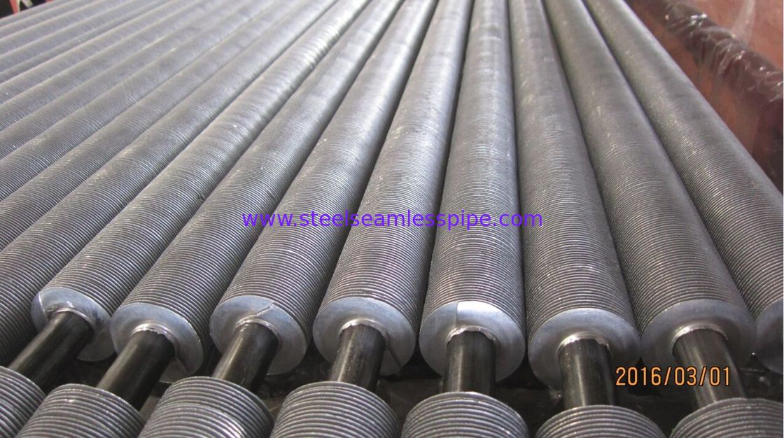 A213 T22 Finned Pipe Heat Exchanger Fin Tube Solid Type Cold Drawn