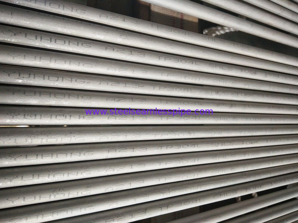 Stainless Steel Heat Exchanger Boiler Tube ASTM A213 TP304 / 304L Pickled&Annealed 100% HT 100% ET