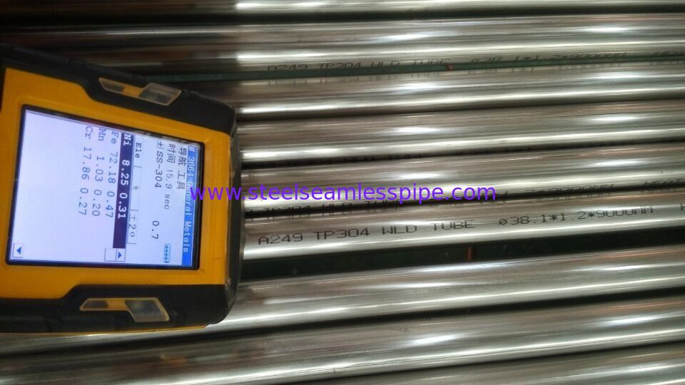 TP304 TP304L TP316L Stainless Steel Welded Tube ASTM A249 / ASME SA249 38.1*1.2/1.5MM