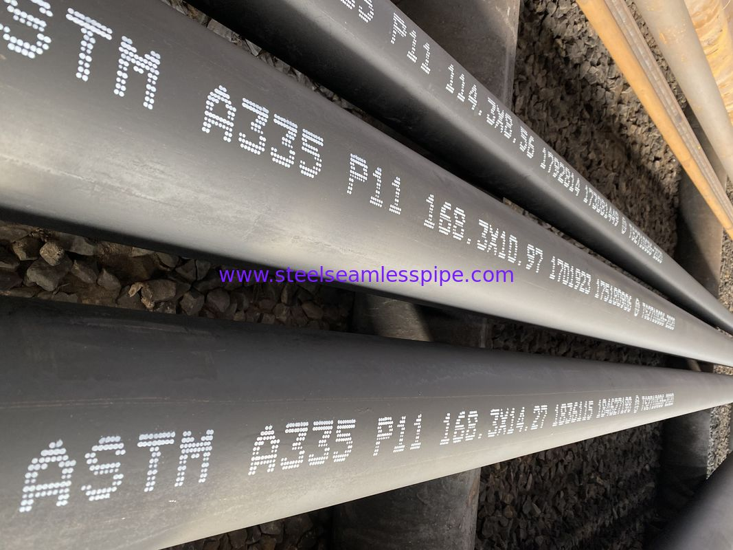 ASTM A335 P11 P22 P5 P9 Seamless Boiler Tubes Black Painting And Beveled